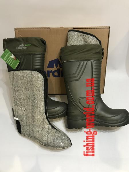 Фото Обувь для рыбаков и охотников Сапоги зимние NORDMAN Classic до - 45 Псков Полимер ПЕ 15 умм