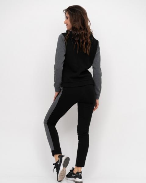 Фото  Спортивные костюмы ISSA PLUS 11188  L черный/серый