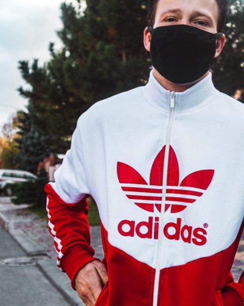 Теплая олимпийка Adidas Thrino Красно-белый