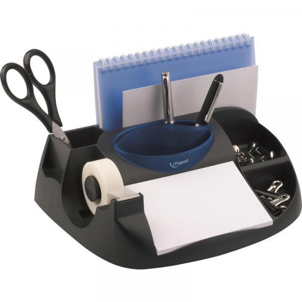Фото Канцелярские товары (ЦЕНЫ БЕЗ НДС), Подставки настольные, боксы, держатели для бумаги Подставка для канцелярских мелочей Maped, черн/син