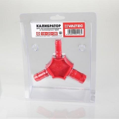 Калибратор для труб с ножами для снятия фаски Valtec, 16-20-26 мм
