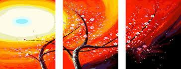 Фото Картины на холсте по номерам, Триптих, диптих PX5131 ТРИПТИХ Волшебное дерево Картина по номерам на холсте 120х50см