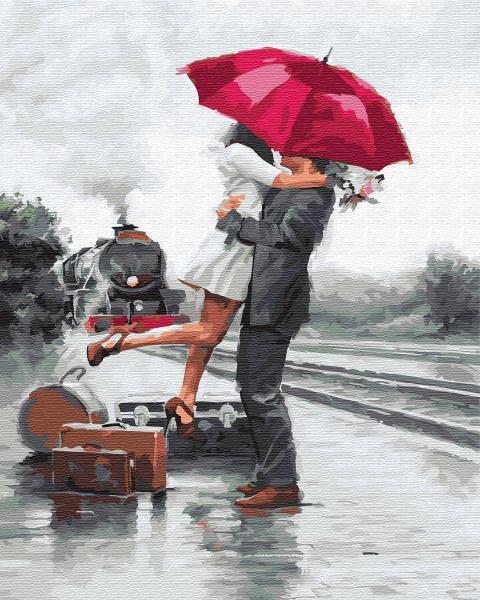 Фото Картины на холсте по номерам, Романтические картины. Люди KGХ 5682 Картина по номерам на холсте 40х50см