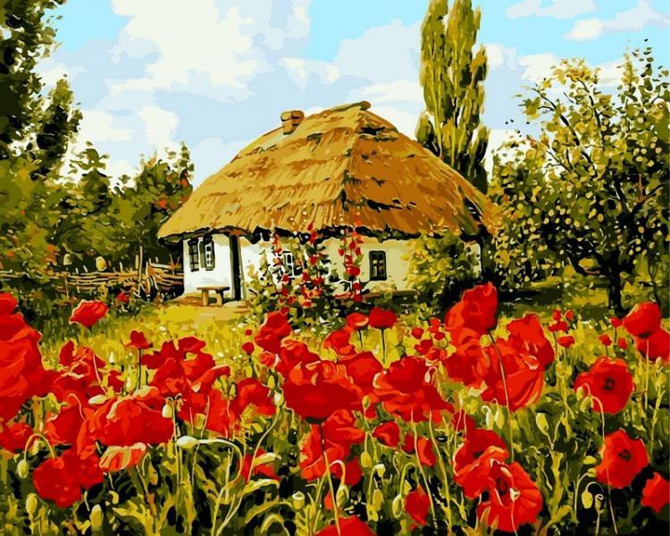 Фото Картины на холсте по номерам, Моя Україна VP 355