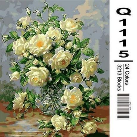 Фото Картины на холсте по номерам, Букеты, Цветы, Натюрморты Q1115