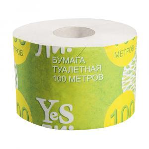 Бумага туалетная Yesли: со втулкой 100 м.