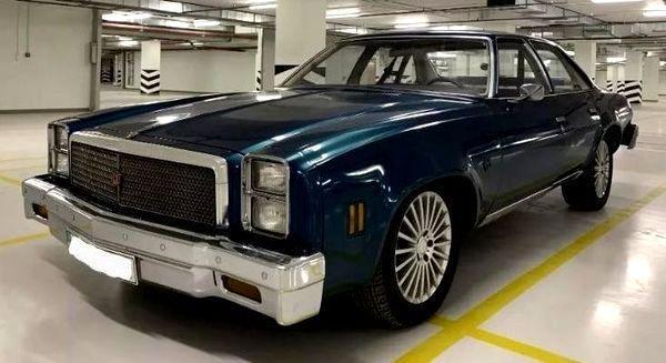 Ретро авто Chevrolet Malibu Classic blue аренда Киев