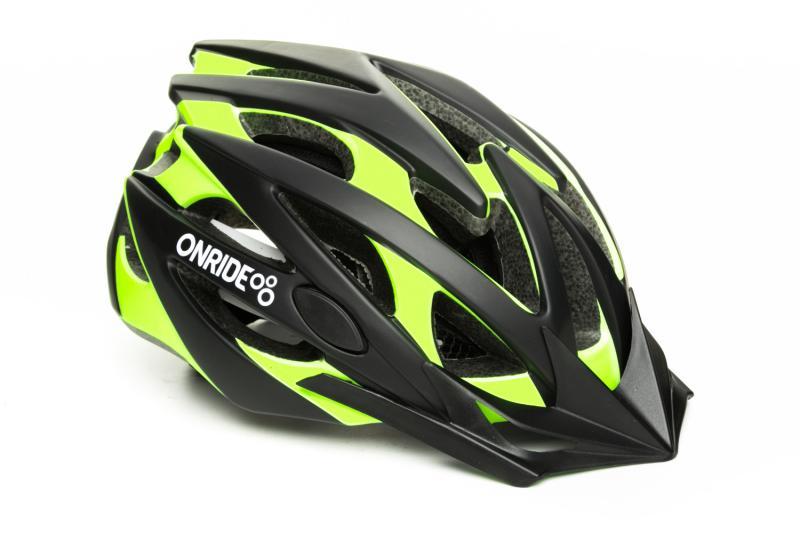 Шолом ONRIDE Cross матовий чорний/зелений