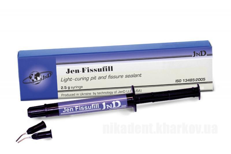 Фото Для стоматологических клиник, Материалы, Лечебные и профилактические материалы Jen-Fissufill (Джен Фисуфил) герметик для фиссур 2,5 г