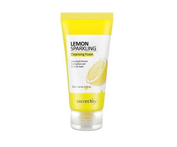 Пенка для умывания с экстрактом лимона Secret Key Lemon Sparkling Cleansing Foam 120мл (SK0102)