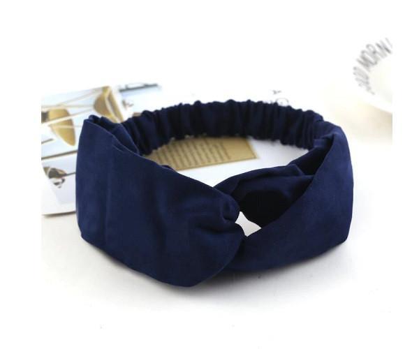 Повязка для волос Double Dare экозамшевая синяя (PO0115)