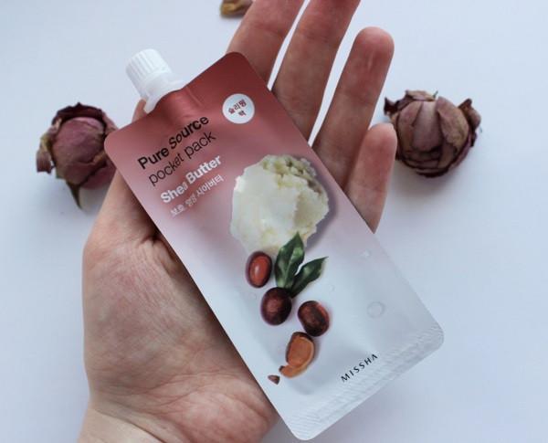 Маска для лица на основе масла ши Missha Pure Source Pocket Pack Shea Butter 10ml (M0114)