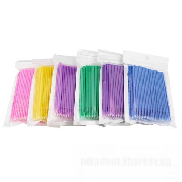 Фото Для стоматологических клиник, Расходные материалы Микроаппликаторы (микробраши) в размерах  -   Andent  (100шт./ пакет)