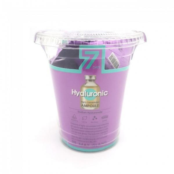 Гиалуроновый увлажняющий гель May Island 7 Days Highly Concentrated Hyaluronic Ampoule 3гр 12шт (MI0103)