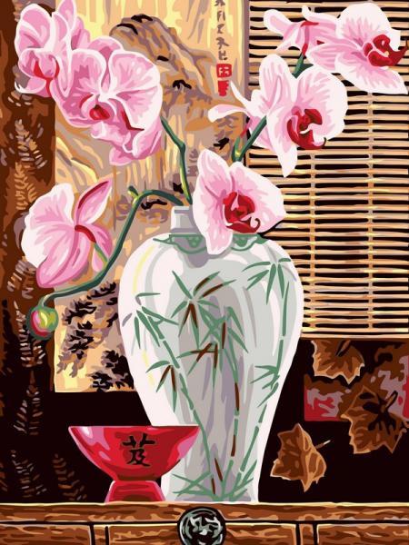 Фото Картины на холсте по номерам, Букеты, Цветы, Натюрморты VK 011