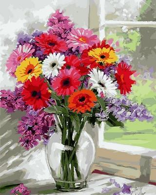 Фото Картины на холсте по номерам, Букеты, Цветы, Натюрморты VP797