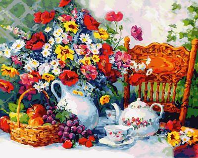 Фото Картины на холсте по номерам, Букеты, Цветы, Натюрморты VP 943