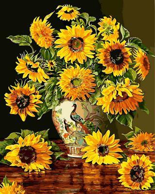 Фото Картины на холсте по номерам, Букеты, Цветы, Натюрморты VP 946