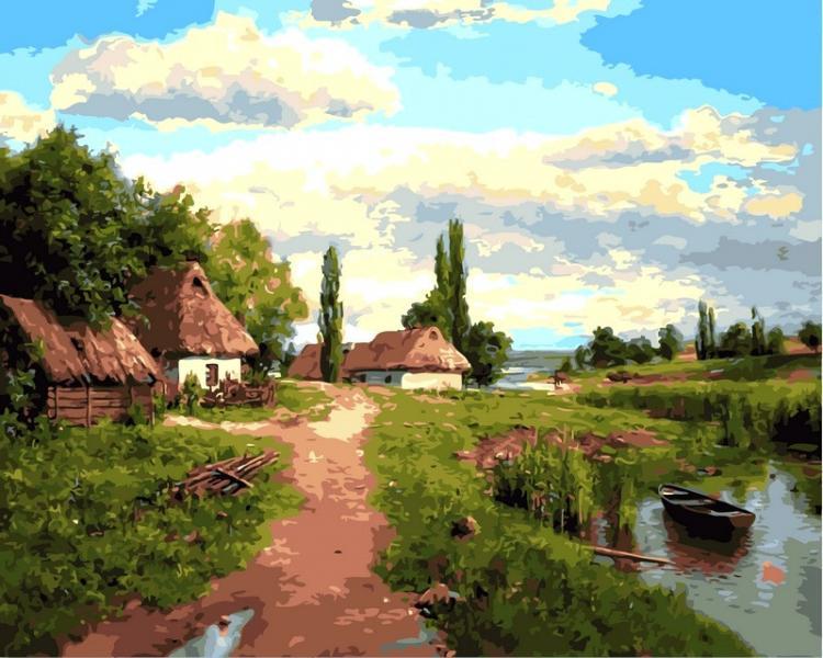 Фото Картины на холсте по номерам, Моя Україна VP 349