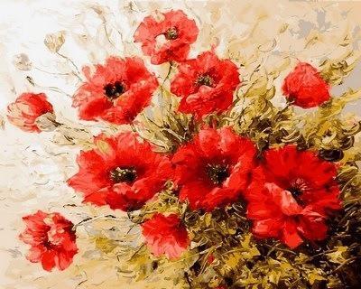 Фото Картины на холсте по номерам, Букеты, Цветы, Натюрморты VP 579