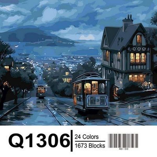 Фото Картины на холсте по номерам, Городской пейзаж Q1306