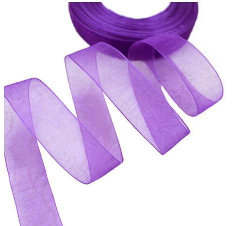 Фото Ленты, Лента органза однотонная Лента Органза фиолетового цвета 2,5 см.