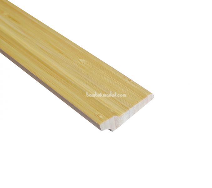 Плинтус бамбук (светлый)  1850 х 60 х 20 мм