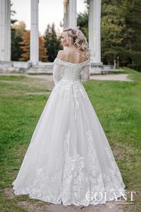 Фото Свадебные платья Блестящее Свадебное платье с рукавами Линн