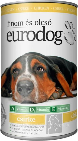 Консерва для Собак EURO DOG с Птицей 1240 гр