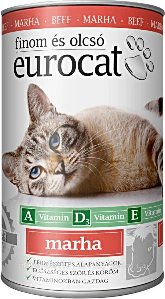 Консерва для Котов с Говядиной EUROCAT  415 гр