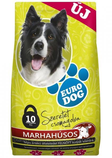 Сухой корм для Собак EURO DOG с Говядиной 10 кг