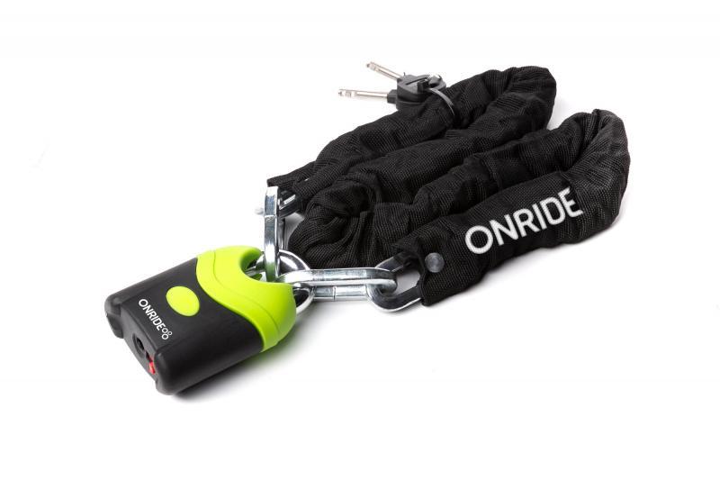 Велозамок ONRIDE Hulk 70 ланцюговий 8x1200мм з навісним замком