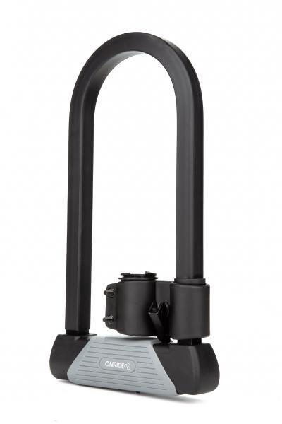 Фото АКСЕСУАРИ, Замки, Сигналізації Велозамок U-подібний ONRIDE Сlamp 20 скоба U-Lock 16x180x340 мм