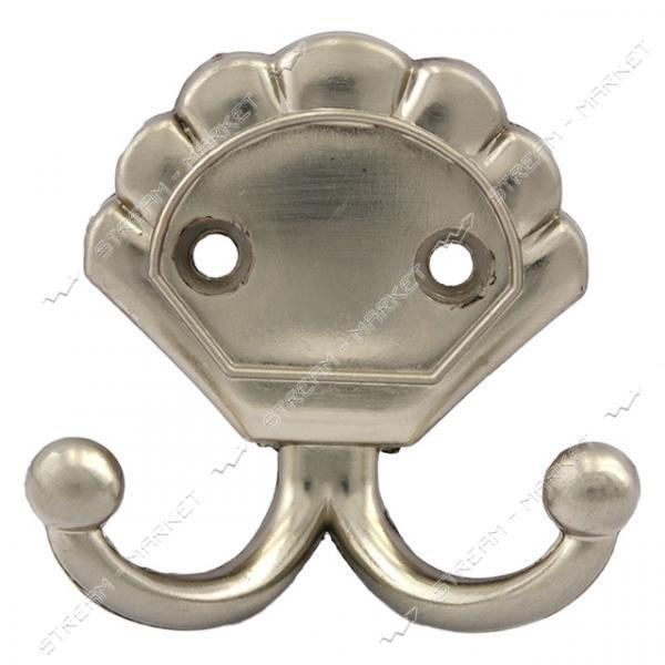 Крючок мебельный №6061 матовый хром