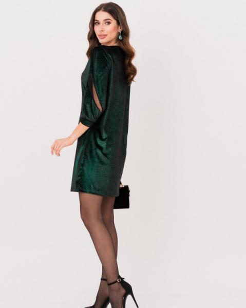 Фото  Платья ISSA PLUS 11249  3XL черный/зеленый