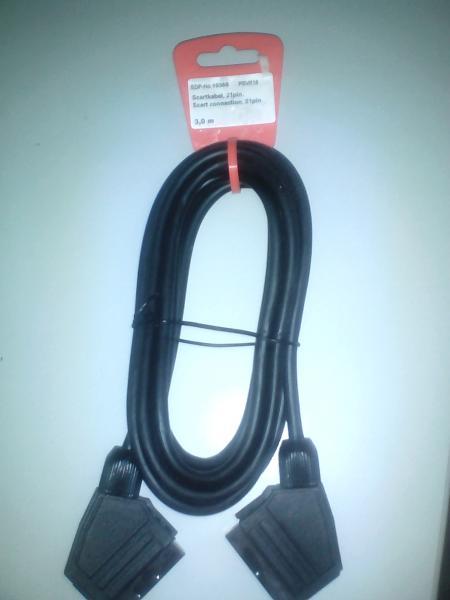 Vivanco PS VK 18 Видео кабель, Scart, 21 контакт: вилка – вилка, 3.0 м