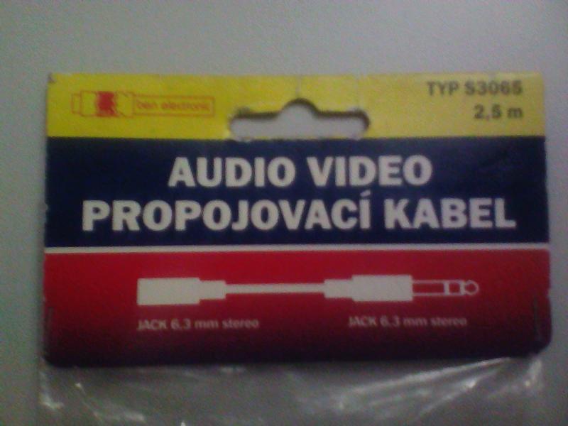 EMOS s3065  audio/video  кабель 2,5м (Jack 6.3mm Stereo - Jack 6.3mm Stereo)