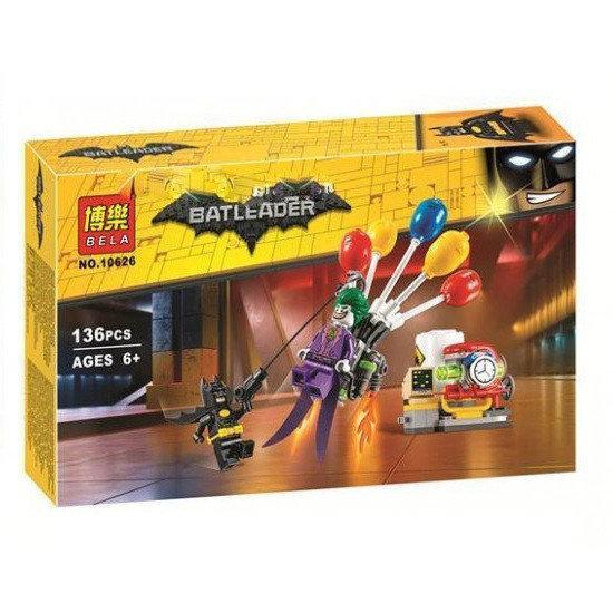 Фото Конструкторы, Конструкторы типа «Лего», Супергерои. Черепашки Нинзя. Ангри Бердз. Роботы Трансформеры. 10626 Конструктор Bela (Аналог Lego The Batman Movie 70900) Побег Джокера на воздушном шаре136 дет.