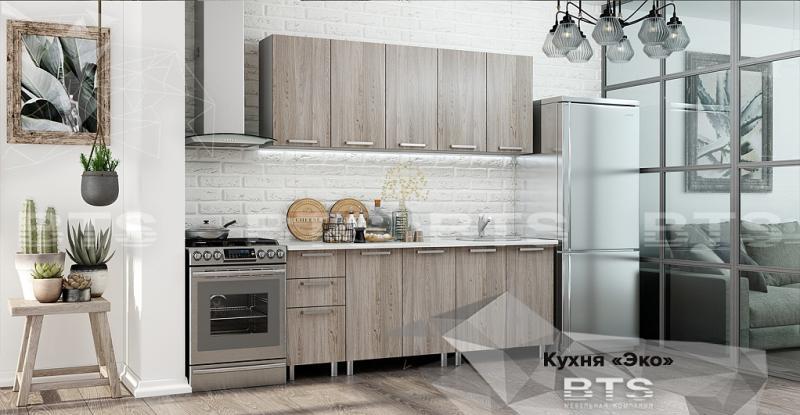 Фото Кухни готовые Кухня Эко 2,0м ясень светлый (БТС)