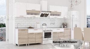 Кухня Айсберри 2,4м дуб сонома/белый (БТС)
