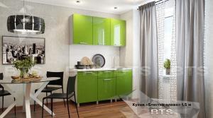 Кухня Блестки олива МДФ 1,5м (БТС)