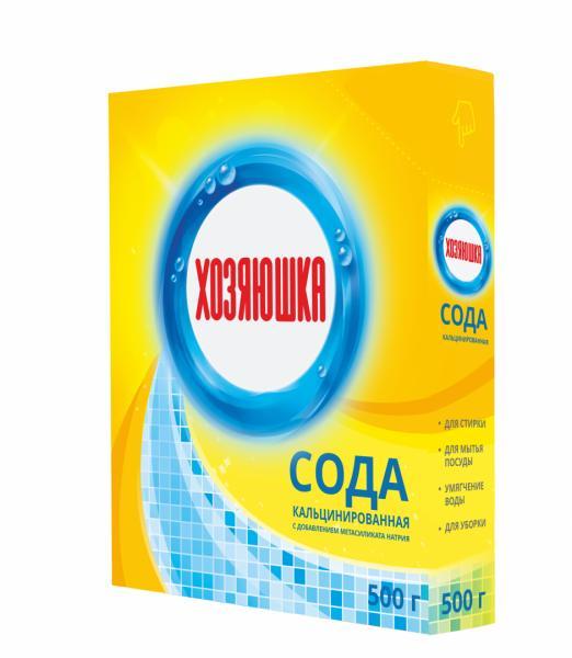 """Сода кальцинированная с добавлением метасиликата натрия """"Хозяюшка"""" 500 г."""