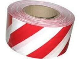 Лента сигнальная 80мм/200м красно-белая FAVORIT