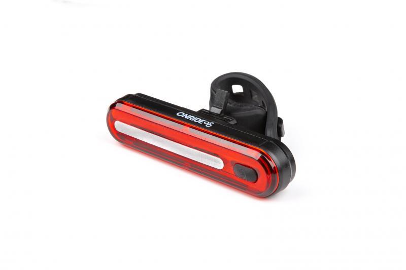 Мигалка задня ONRIDE Inferno 20 USB габаритне світло Black