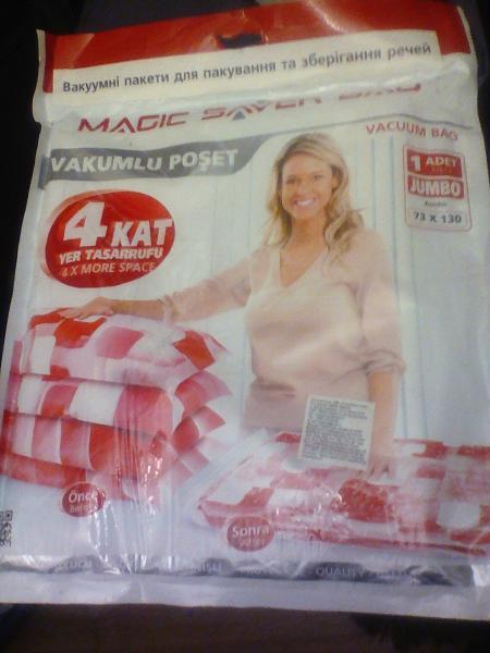 Вакуум пакеты/одежды х 1 шт./упак 73 х 130 см SINGLE JUMBO
