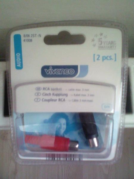 Аудио адаптер Rca Socket 2Pcs. Vivanco  41008