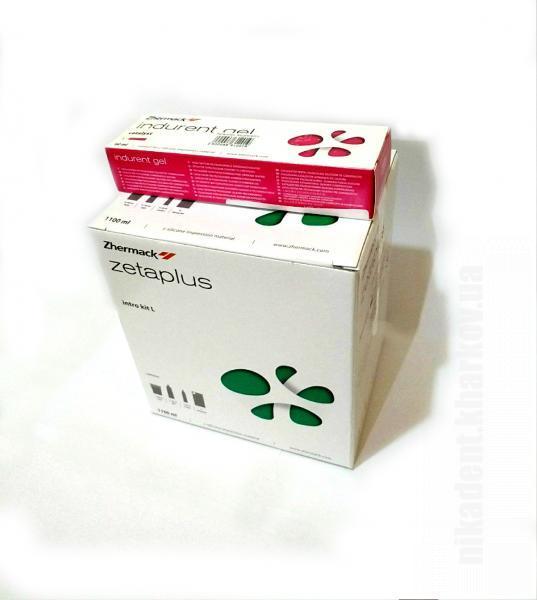 Фото Для стоматологических клиник, Материалы, Оттискные материалы Zeta plus (Зета плюс -Набор) + Indurent Gel (Катализатор) 60мл