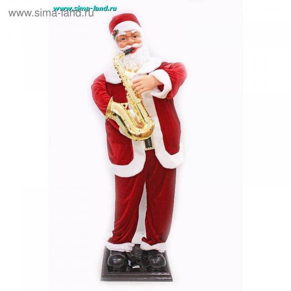 Фигура деда мороза (санта клаус) с саксофоном 70 см