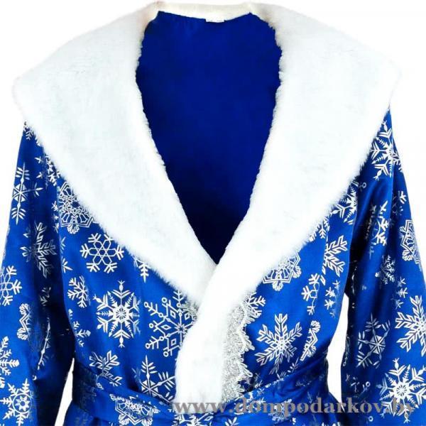 Фото Подарки на Новый год 2020 Карнавальный костюм «Дед Мороз», сатин, размер 54-56, цвет синий