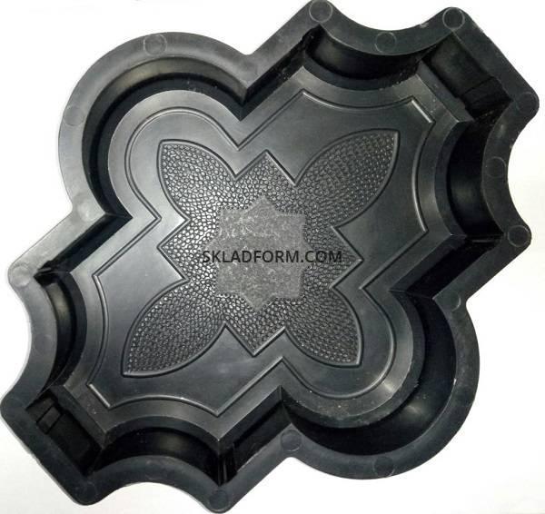 Формы для тротуарной плитки Клевер узорный 2,5 см